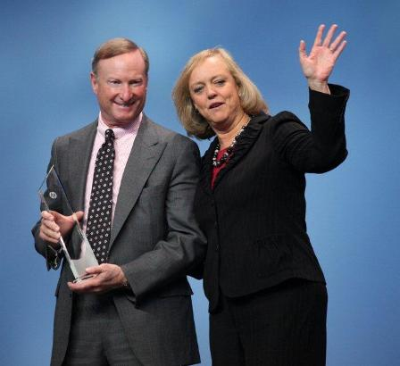 Meg Whitman awards HPFS special award at HP FLK Frankfurt, Germany